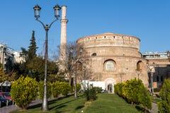 το Rotunda μνημείο 4$ος-αιώνα στην πόλη Θεσσαλονίκης Στοκ Εικόνες