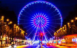 Το Roue de Παρίσι, θέση de Λα Concorde, Γαλλία στοκ εικόνες