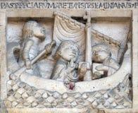 Το SAN Geminianus διασχίζει τη θάλασσα ελεύθερη η κόρη του βυζαντινού αυτοκράτορα μεγαλοπρεπής, από το διάβολο Στοκ εικόνα με δικαίωμα ελεύθερης χρήσης