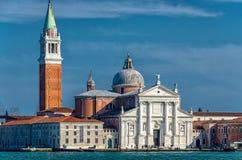 Το SAN Giorgio Maggiore είδε από το κύριο νησί Στοκ Φωτογραφία