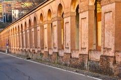 SAN Luca arcade στη Μπολόνια, Ιταλία Στοκ Εικόνα