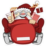 το santa απεικόνισης διακοπών Claus Χριστουγέννων ενέργειας κάνει πατινάζ διάνυσμα σκι Στοκ εικόνα με δικαίωμα ελεύθερης χρήσης