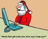 Το Santa είναι ύφασμα εξυπηρέτησης πελατών Στοκ φωτογραφία με δικαίωμα ελεύθερης χρήσης