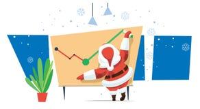 Το Santa θέλει την έξυπνη επιχείρηση του χρόνου Στοκ φωτογραφία με δικαίωμα ελεύθερης χρήσης