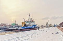 Το Schmidt υπολοχαγών ανάχωμα στη χιονοθύελλα Στοκ Φωτογραφίες