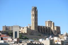 Το Seu, παλαιός καθεδρικός ναός, Lleida Καταλωνία, Ισπανία Στοκ εικόνα με δικαίωμα ελεύθερης χρήσης