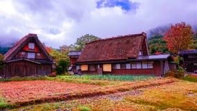 Το Shirakawa πηγαίνει χωριό στην Ιαπωνία στοκ εικόνα με δικαίωμα ελεύθερης χρήσης