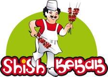Το Shish kebab μαγειρεύει, χαρακτήρας ανατολικών κουζινών Στοκ φωτογραφίες με δικαίωμα ελεύθερης χρήσης