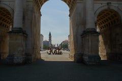 Το Siegestor σε MÃ ¼ - επισκεμμένος σε MÃ ¼ η Βαυαρία στοκ φωτογραφίες με δικαίωμα ελεύθερης χρήσης