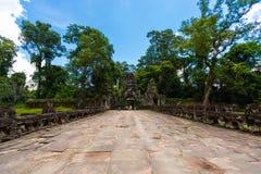 Το Siem συγκεντρώνει, ιερός διάδρομος ναών της Καμπότζης Angkor Στοκ φωτογραφία με δικαίωμα ελεύθερης χρήσης