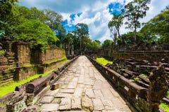 Το Siem συγκεντρώνει, ιερός διάδρομος ναών της Καμπότζης Angkor Στοκ Εικόνες