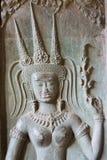 Το Siem συγκεντρώνει, Καμπότζη - 5 Δεκεμβρίου 2016: Ανακούφιση σε Angkor Wat ένα famou Στοκ Φωτογραφία