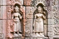Το Siem συγκεντρώνει, Καμπότζη - 13 Δεκεμβρίου 2016: Ανακούφιση σε Krol Ko σε Angkor Στοκ Εικόνες