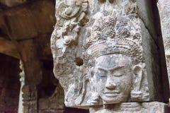 Το Siem συγκεντρώνει, Καμπότζη - 13 Δεκεμβρίου 2016: Ανακούφιση σε Preah Khan σε Angko Στοκ Φωτογραφία