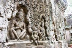 Το Siem συγκεντρώνει, Καμπότζη - 13 Δεκεμβρίου 2016: Ανακούφιση σε Preah Khan σε Angko Στοκ εικόνες με δικαίωμα ελεύθερης χρήσης