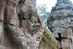 Το Siem συγκεντρώνει, Καμπότζη - 13 Δεκεμβρίου 2016: Ανακούφιση σε Preah Khan σε Angko Στοκ Φωτογραφίες