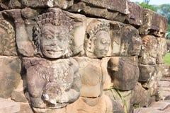 Το Siem συγκεντρώνει, Καμπότζη - 10 Δεκεμβρίου 2016: Ανακούφιση στο πεζούλι του Elep Στοκ Εικόνες