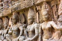 Το Siem συγκεντρώνει, Καμπότζη - 10 Δεκεμβρίου 2016: Ανακούφιση στο πεζούλι Lepe Στοκ Φωτογραφίες