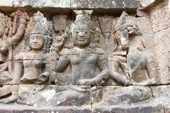 Το Siem συγκεντρώνει, Καμπότζη - 10 Δεκεμβρίου 2016: Ανακούφιση στο πεζούλι Lepe Στοκ Εικόνες