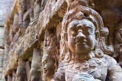 Το Siem συγκεντρώνει, Καμπότζη - 10 Δεκεμβρίου 2016: Ανακούφιση στο πεζούλι Lepe Στοκ Φωτογραφία