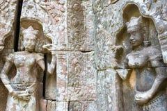 Το Siem συγκεντρώνει, Καμπότζη - 11 Δεκεμβρίου 2016: Ανακούφιση στο SOM TA σε Angkor Α Στοκ φωτογραφίες με δικαίωμα ελεύθερης χρήσης