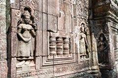 Το Siem συγκεντρώνει, Καμπότζη - 11 Δεκεμβρίου 2016: Ανακούφιση στο SOM TA σε Angkor Α Στοκ Εικόνες