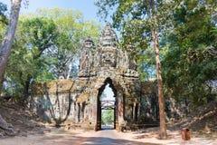Το Siem συγκεντρώνει, Καμπότζη - 11 Δεκεμβρίου 2016: Βόρεια πύλη σε Angkor Thom Α Στοκ Φωτογραφία