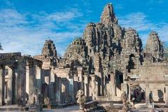 Το Siem συγκεντρώνει, Καμπότζη - 8 Δεκεμβρίου 2016: Ναός Bayon σε Angkor Thom Στοκ Εικόνα
