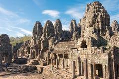 Το Siem συγκεντρώνει, Καμπότζη - 8 Δεκεμβρίου 2016: Ναός Bayon σε Angkor Thom Στοκ Εικόνες