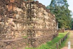 Το Siem συγκεντρώνει, Καμπότζη - 10 Δεκεμβρίου 2016: Πεζούλι του βασιλιά λεπρών μέσα Στοκ εικόνες με δικαίωμα ελεύθερης χρήσης