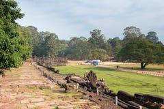 Το Siem συγκεντρώνει, Καμπότζη - 10 Δεκεμβρίου 2016: Πεζούλι των ελεφάντων στο Α Στοκ εικόνες με δικαίωμα ελεύθερης χρήσης