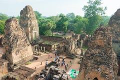 Το Siem συγκεντρώνει, Καμπότζη - 11 Δεκεμβρίου 2016: Προ Rup σε Angkor ένα διάσημο χ Στοκ Εικόνες