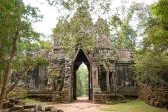 Το Siem συγκεντρώνει, Καμπότζη - 13 Δεκεμβρίου 2016: Πύλη των νεκρών στο θόριο Angkor Στοκ φωτογραφία με δικαίωμα ελεύθερης χρήσης