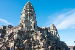 Το Siem συγκεντρώνει, Καμπότζη - 5 Δεκεμβρίου 2016: Angkor Wat διάσημος ένας ιστορικός Στοκ Εικόνα