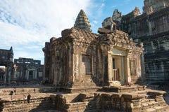 Το Siem συγκεντρώνει, Καμπότζη - 5 Δεκεμβρίου 2016: Angkor Wat διάσημος ένας ιστορικός Στοκ Εικόνες