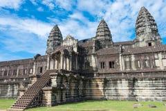 Το Siem συγκεντρώνει, Καμπότζη - 5 Δεκεμβρίου 2016: Angkor Wat διάσημος ένας ιστορικός Στοκ Φωτογραφίες