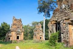 Το Siem συγκεντρώνει, Καμπότζη - 11 Δεκεμβρίου 2016: Prasat Suor Prat στο θόριο Angkor Στοκ Εικόνες