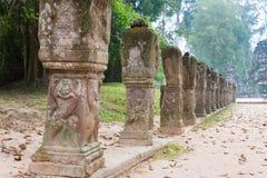 Το Siem συγκεντρώνει, Καμπότζη - 13 Δεκεμβρίου 2016: Preah Khan σε Angkor ένα famou Στοκ Εικόνα