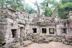 Το Siem συγκεντρώνει, Καμπότζη - 13 Δεκεμβρίου 2016: Preah Khan σε Angkor ένα famou Στοκ εικόνα με δικαίωμα ελεύθερης χρήσης