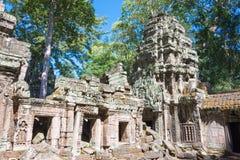 Το Siem συγκεντρώνει, Καμπότζη - 30 Νοεμβρίου 2016: Ναός TA Prohm σε Angkor Α Στοκ φωτογραφίες με δικαίωμα ελεύθερης χρήσης