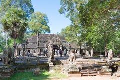 Το Siem συγκεντρώνει, Καμπότζη - 30 Νοεμβρίου 2016: Banteay Kdei σε Angkor ένα fam Στοκ εικόνες με δικαίωμα ελεύθερης χρήσης