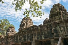 Το Siem συγκεντρώνει, Καμπότζη - 30 Νοεμβρίου 2016: Banteay Kdei σε Angkor ένα fam Στοκ φωτογραφία με δικαίωμα ελεύθερης χρήσης