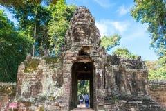 Το Siem συγκεντρώνει, Καμπότζη - 30 Νοεμβρίου 2016: Banteay Kdei σε Angkor ένα fam Στοκ Εικόνα