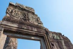 Το Siem συγκεντρώνει, Καμπότζη - 3 Φεβρουαρίου 2015: Angkor Thom διάσημος ένας ιστορικός Στοκ Εικόνες