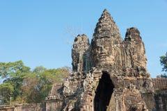 Το Siem συγκεντρώνει, Καμπότζη - 3 Φεβρουαρίου 2015: Angkor Thom διάσημος ένας ιστορικός Στοκ Φωτογραφίες
