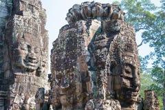 Το Siem συγκεντρώνει, Καμπότζη - 3 Φεβρουαρίου 2015: Angkor Thom διάσημος ένας ιστορικός Στοκ εικόνα με δικαίωμα ελεύθερης χρήσης