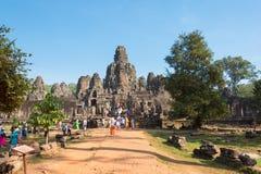 Το Siem συγκεντρώνει, Καμπότζη - 4 Φεβρουαρίου 2015: Angkor Thom διάσημος ένας ιστορικός Στοκ φωτογραφίες με δικαίωμα ελεύθερης χρήσης
