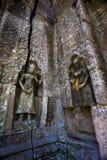 Το Siem συγκεντρώνει την αρχαία γλυπτική πετρών χορευτών apsara Angkor Wat Στοκ Φωτογραφία