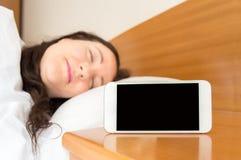 Το smartphone μου είναι το ξυπνητήρι μου Στοκ φωτογραφίες με δικαίωμα ελεύθερης χρήσης