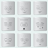 Το Smileys κουμπώνει/αστεία εικονίδιο χαμόγελου/πρόσωπο Smiley/σύνολο διάφορων emoticons Απεικόνιση αποθεμάτων